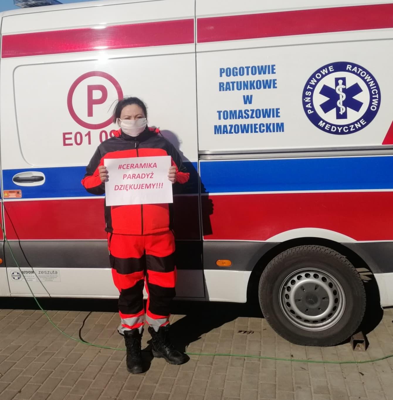 Ceramika Paradyż wsparła Tomaszowskie Centrum Zdrowia wwalce zCOVID-19