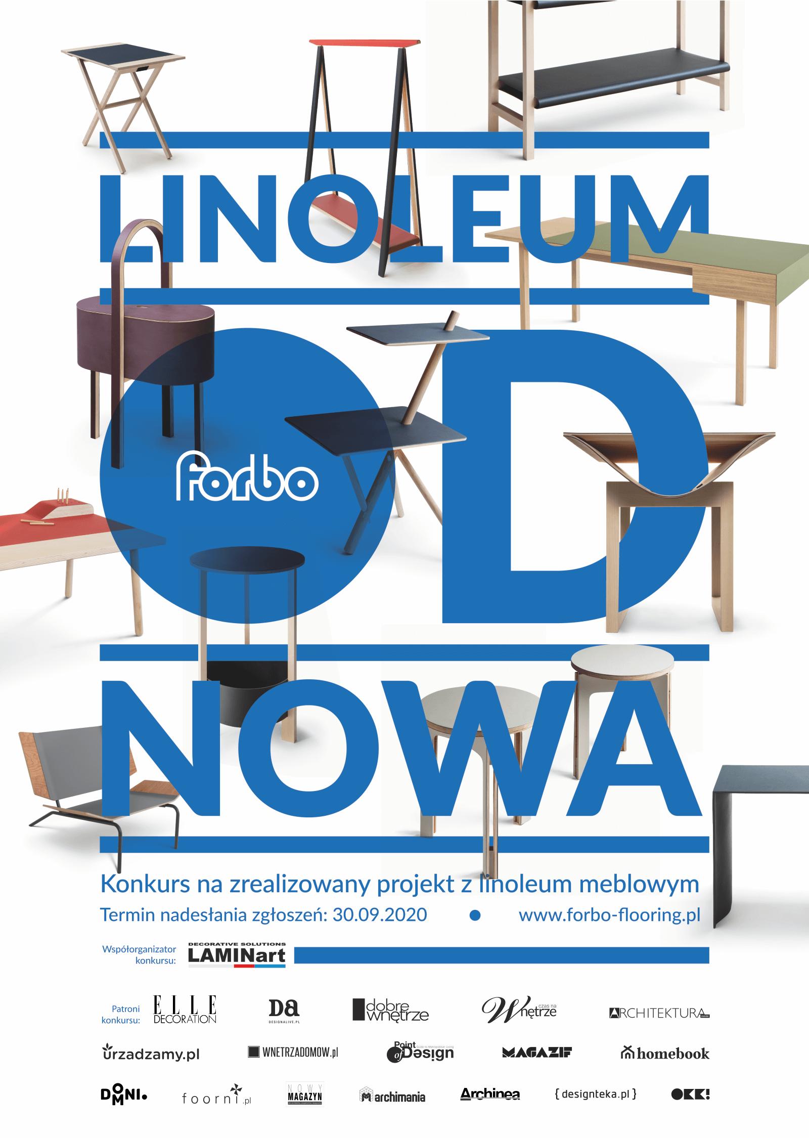Linoleum odnowa – konkurs dla architektów iwykonawców mebli